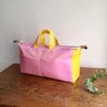 あたらしい型紙、バッグインバッグのパターン、brique
