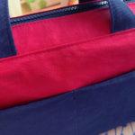 お写真のご紹介:briqueのアレンジ版と、どんでん返し本のナイロントート